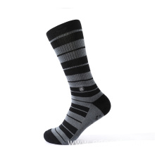 Super elastic jacquard tube compression socks with stripes